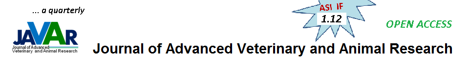 Journal of Advanced Veterinary and Animal Research